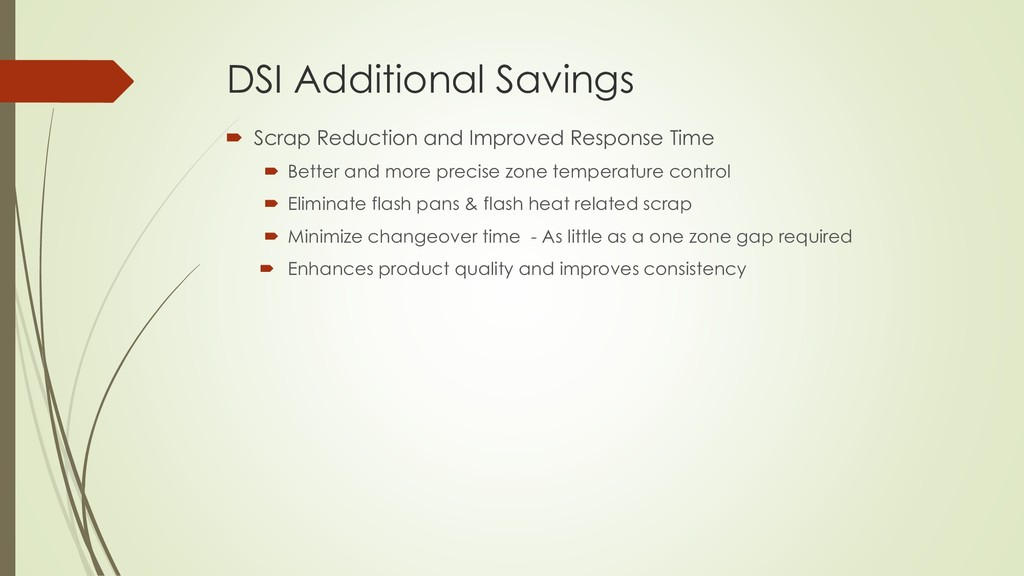 DSI Additional Savings  Scrap Reduction and Im...