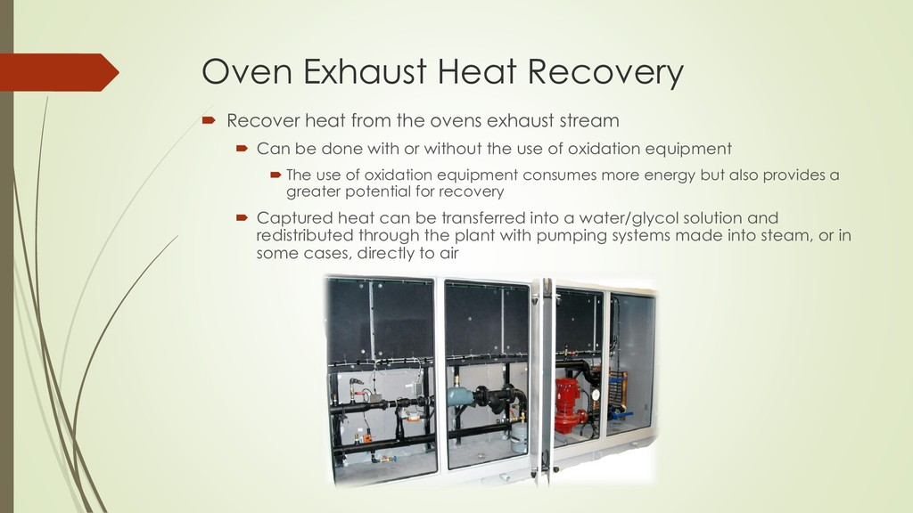 Oven Exhaust Heat Recovery  Recover heat from ...