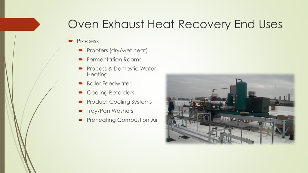 Oven Exhaust Heat Recovery End Uses  Process ...
