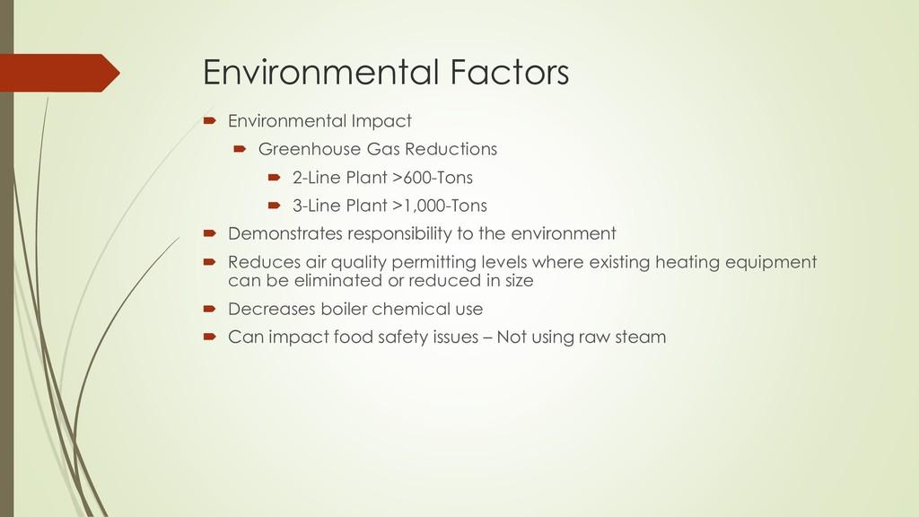 Environmental Factors  Environmental Impact  ...