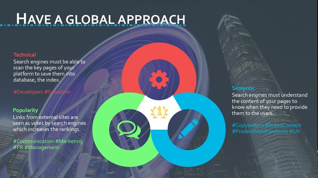 HAVE A GLOBAL APPROACH Technical Search engines...