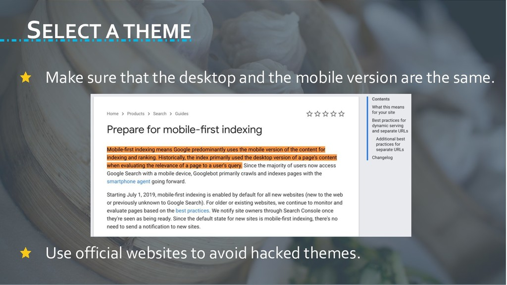 SELECT A THEME Make sure that the desktop and t...