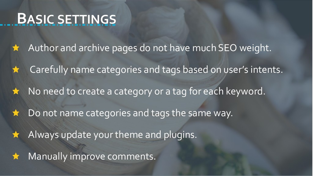 BASIC SETTINGS Author and archive pages do not ...