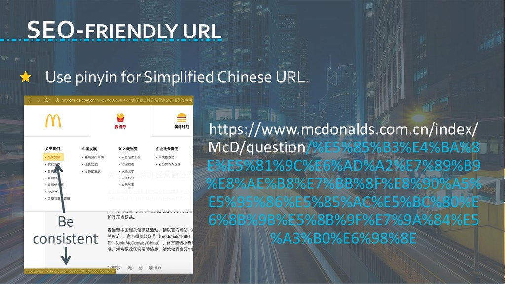 Use pinyin for Simplified Chinese URL. https://...
