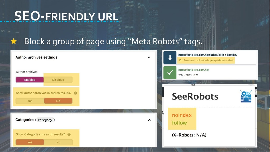 "Block a group of page using ""Meta Robots"" tags...."