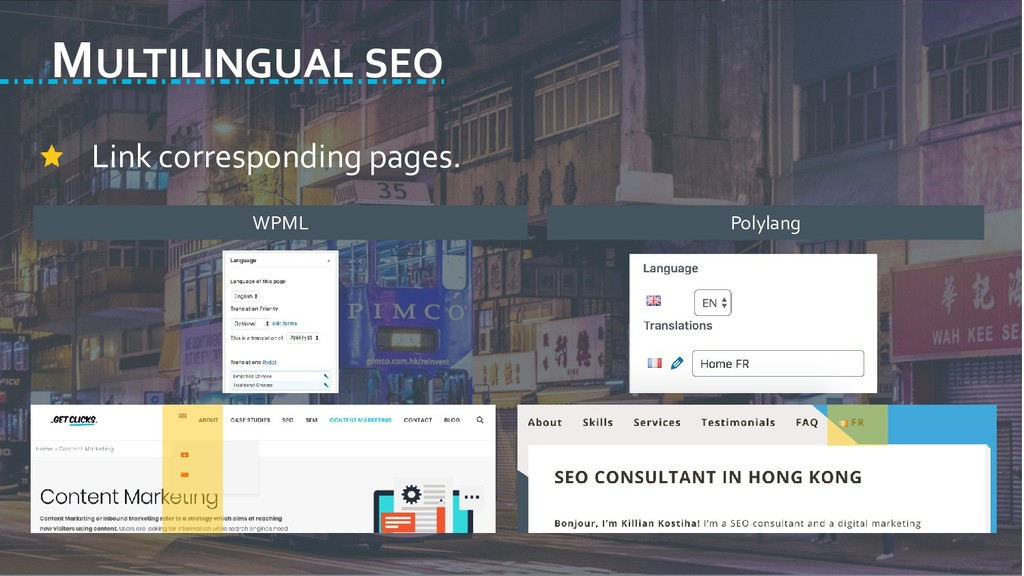MULTILINGUAL SEO Link corresponding pages. WPML...