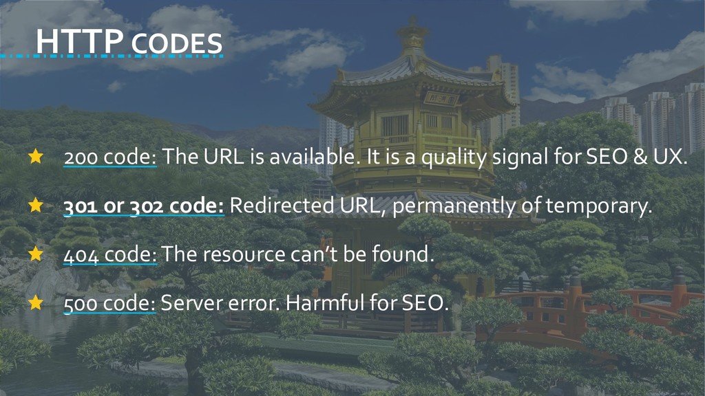 HTTP CODES 200 code: The URL is available. It i...