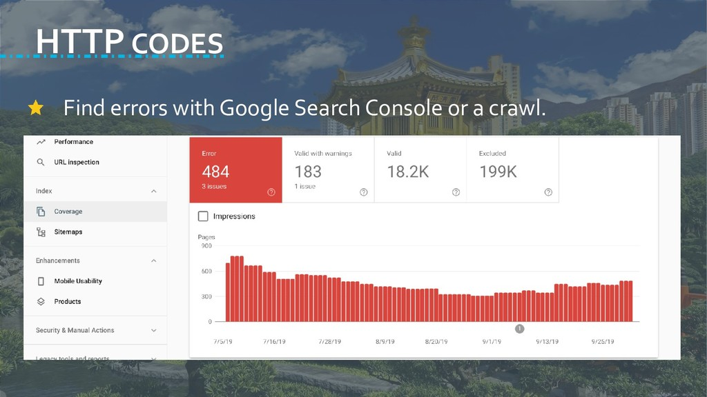 HTTP CODES Find errors with Google Search Conso...