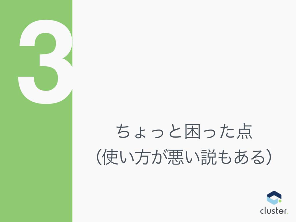 3 ͪΐͬͱࠔͬͨ ʢ͍ํ͕ѱ͍આ͋Δʣ