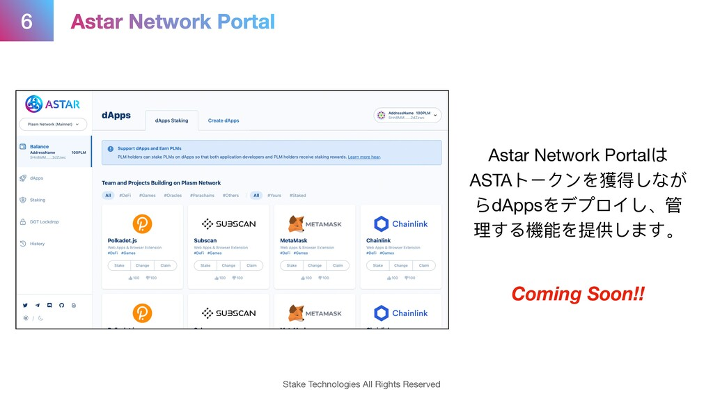 6 Stake Technologies All Rights Reserved Astar ...