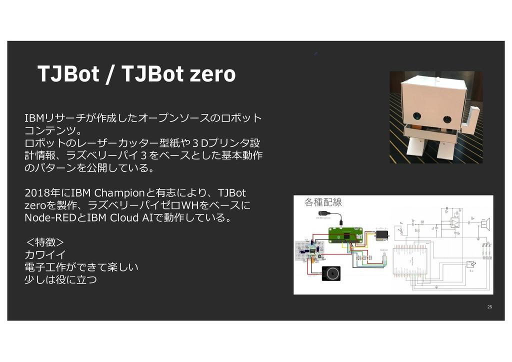 TJBot / TJBot zero 25 IBMリサーチが作成したオープンソースのロボット ...