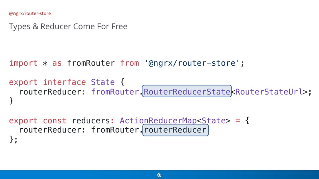 @ngrx/router-store Types & Reducer Come For Fre...