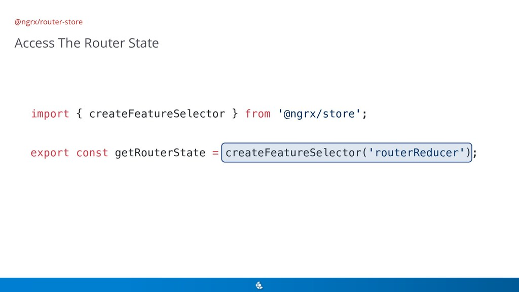 @ngrx/router-store Access The Router State impo...
