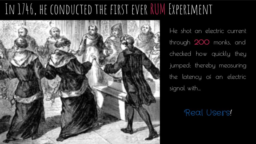 In 1746, he conducted the first ever RUM Experim...