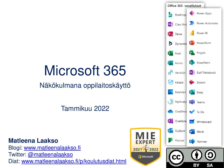 Microsoft Office 365 Näkökulmana oppilaitoskäyt...