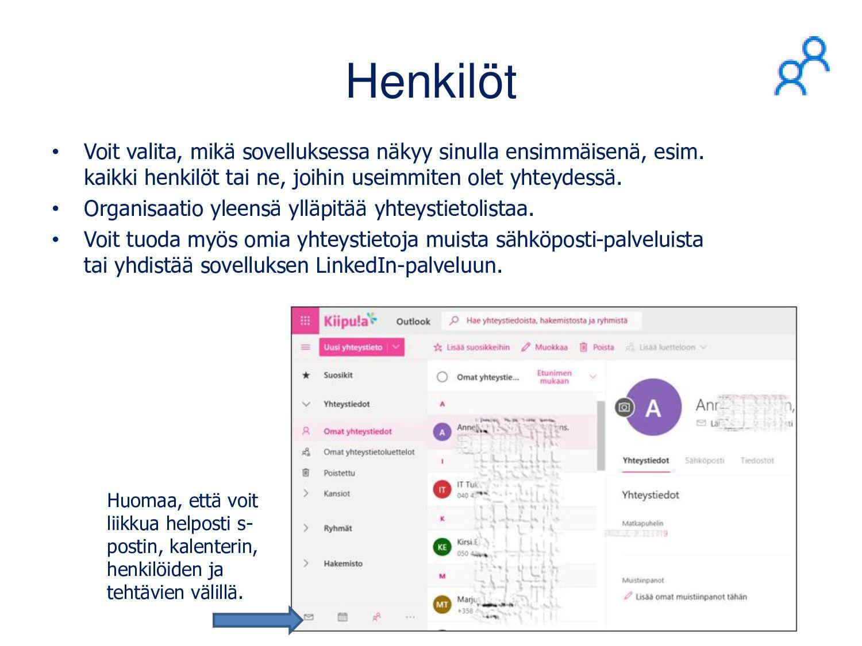Outlook-kalenteri • Voit lisätä kalenterikutsuu...