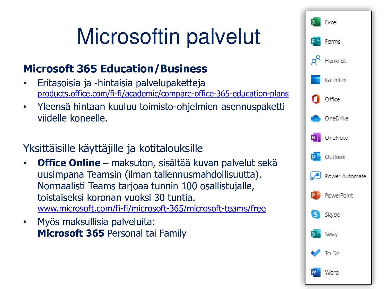 Microsoftin Office-palvelut Office 365 Educatio...