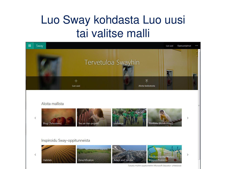 Sites/sivustot/työtilat/SharePoint • Sivustokok...