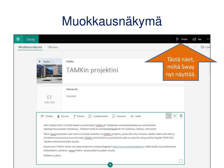 SharePoint Spaces: muokkaaminen Avaa muokkausva...