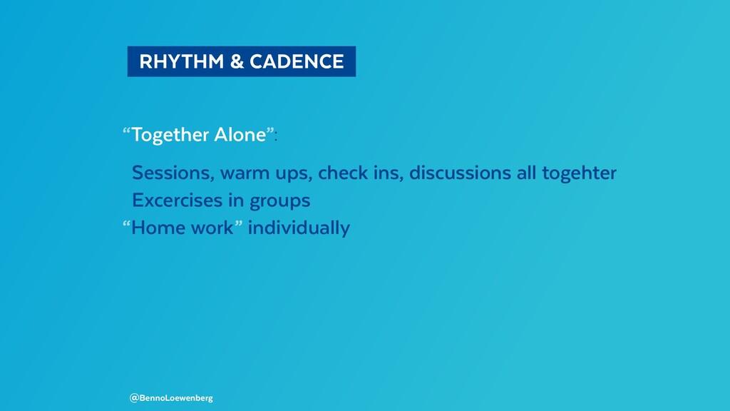 "RHYTHM & CADENCE ""Together Alone"": Sessions,..."
