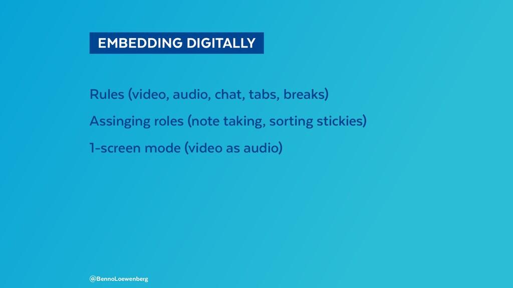 EMBEDDING DIGITALLY Rules (video, audio, cha...