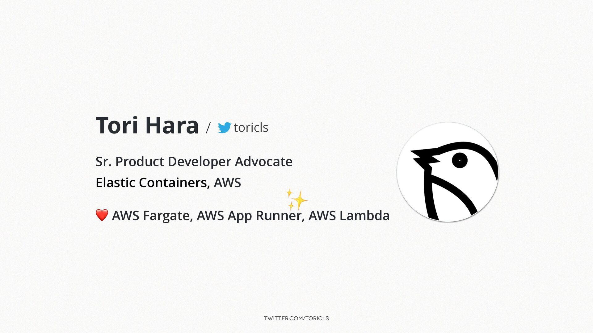 twitter.com/toricls Tori Hara /   Sr. Product D...