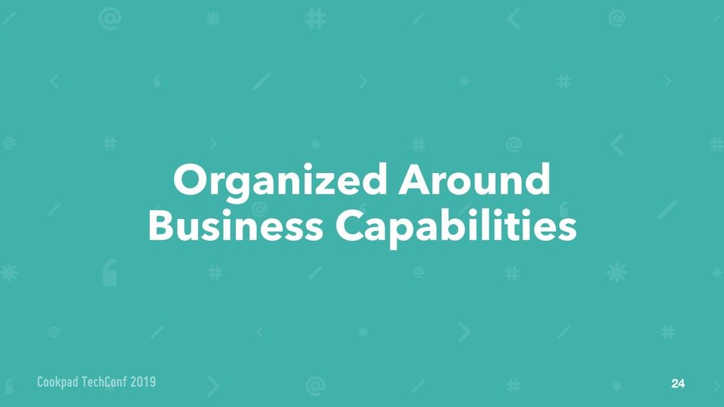 Organized Around Business Capabilities 24