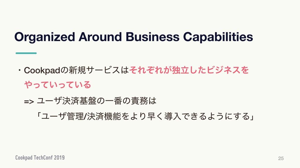 Organized Around Business Capabilities 25 ɾCook...