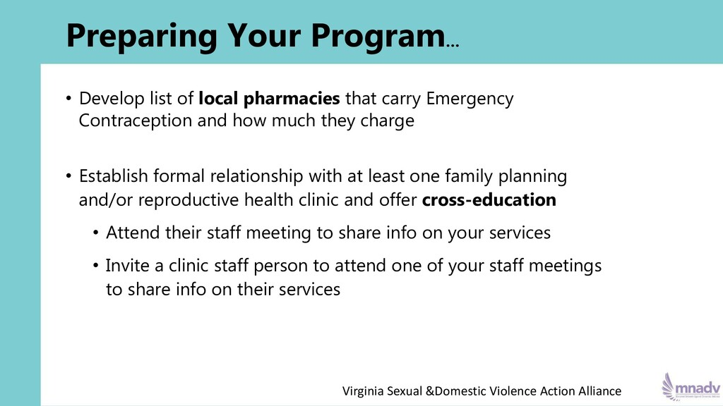 Preparing Your Program… • Develop list of local...