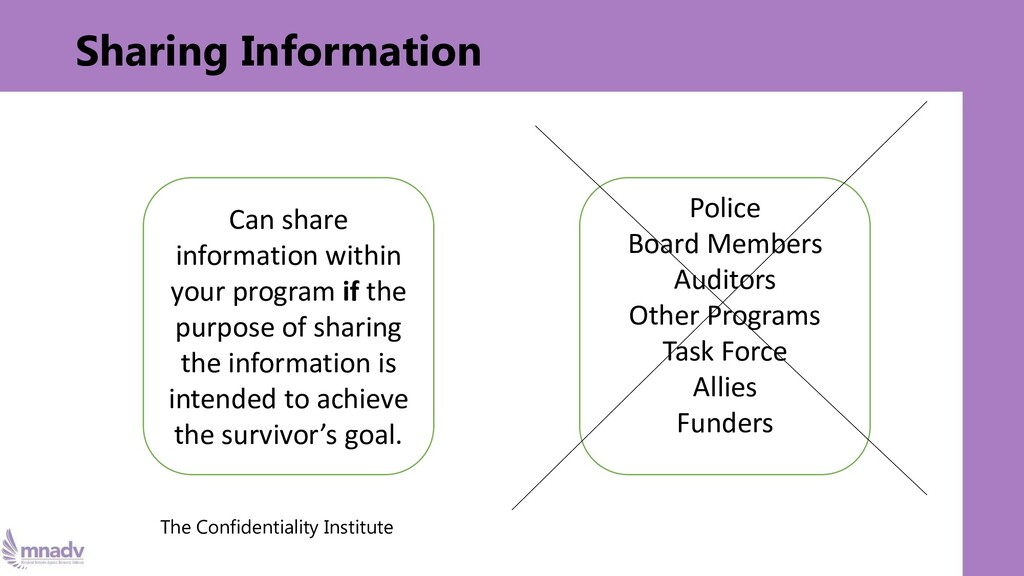 Sharing Information The Confidentiality Institu...