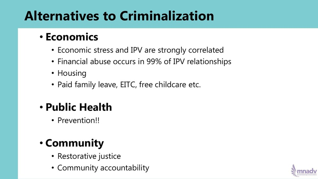 Alternatives to Criminalization • Economics • E...