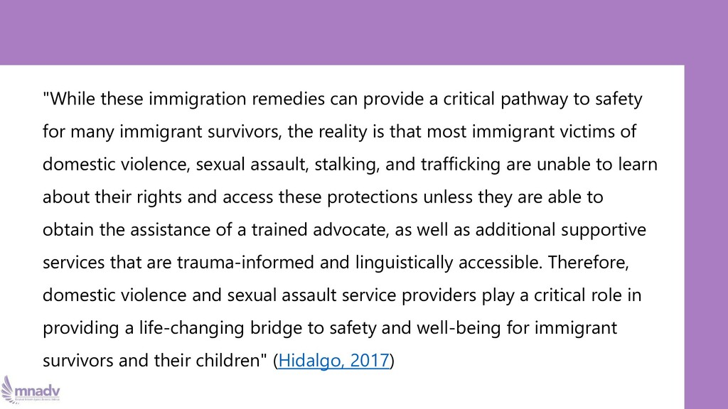 """""""While these immigration remedies can provide a..."""