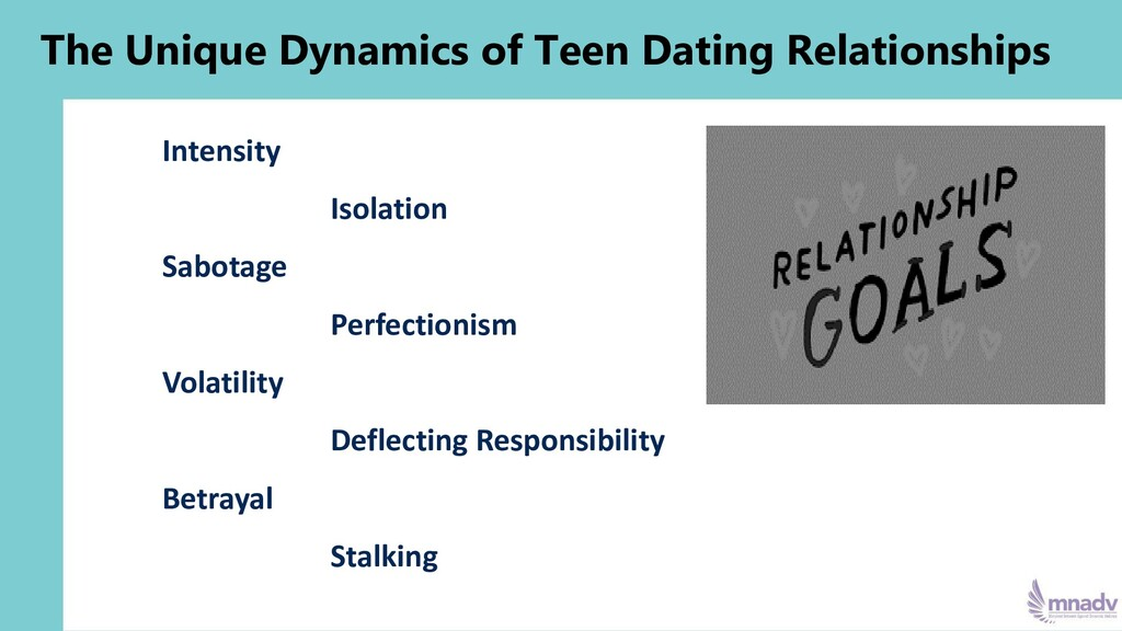 The Unique Dynamics of Teen Dating Relationship...