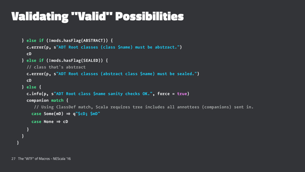"Validating ""Valid"" Possibilities } else if (!mo..."