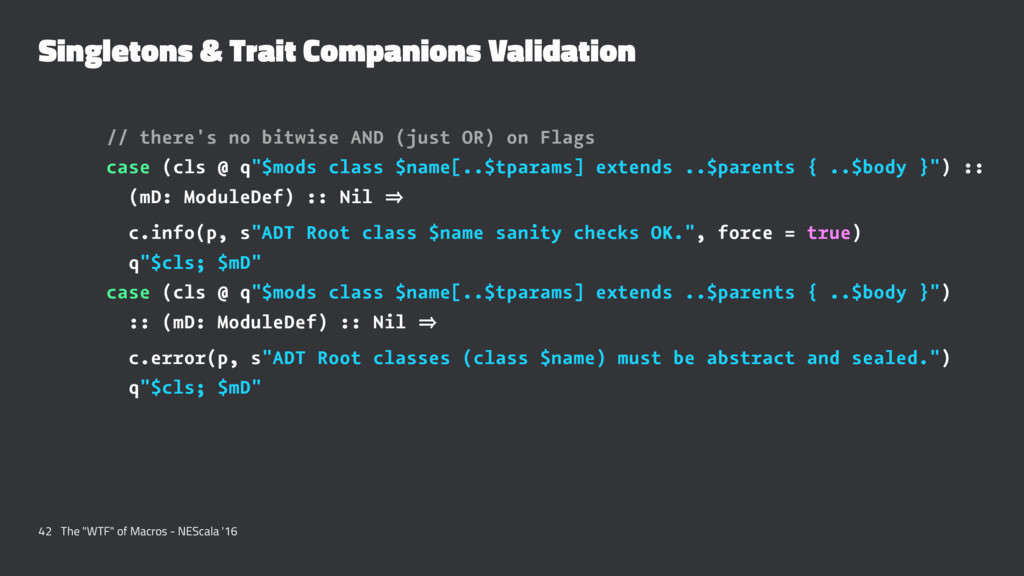 Singletons & Trait Companions Validation // the...