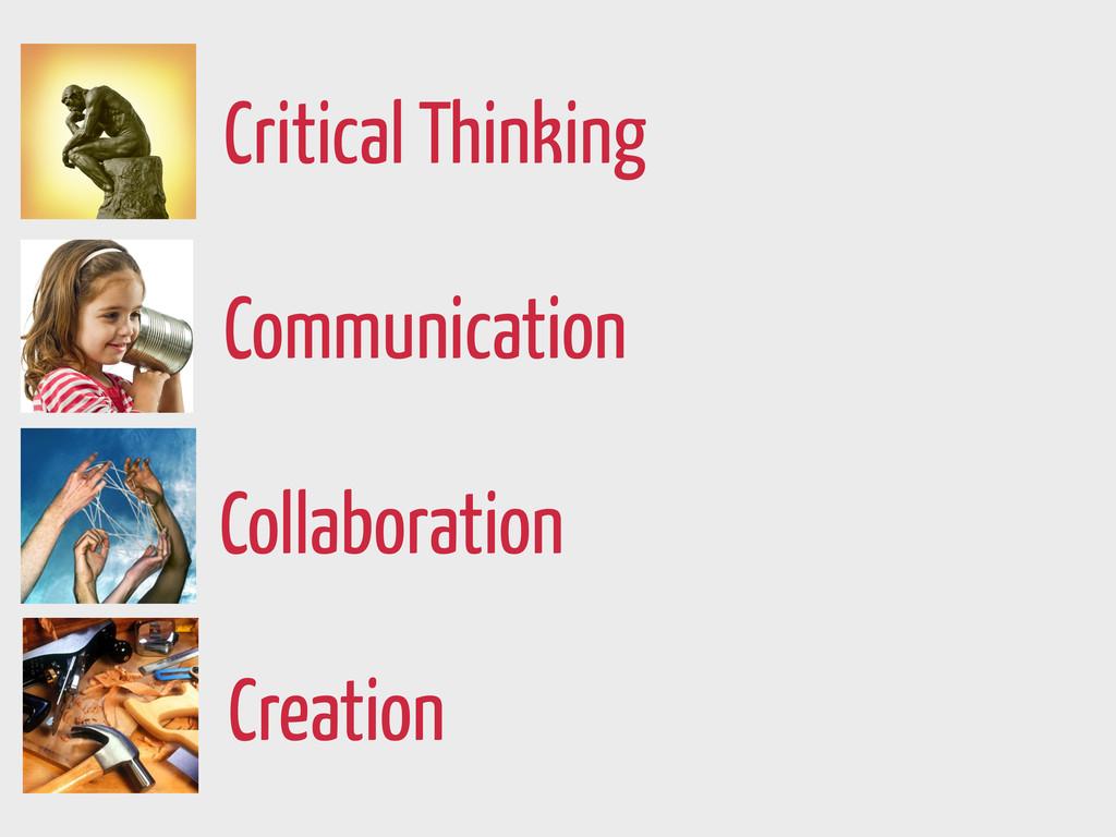 Creation Communication Collaboration Critical T...