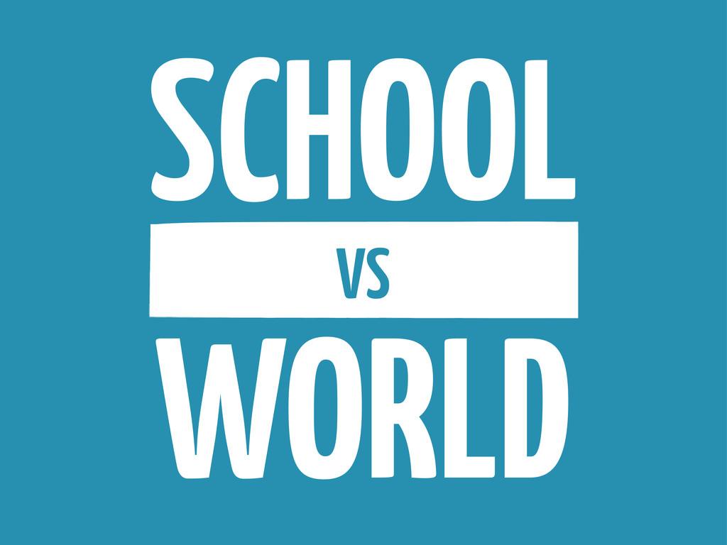 SCHOOL VS WORLD