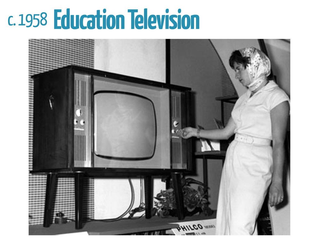 c. 1958 Education Television