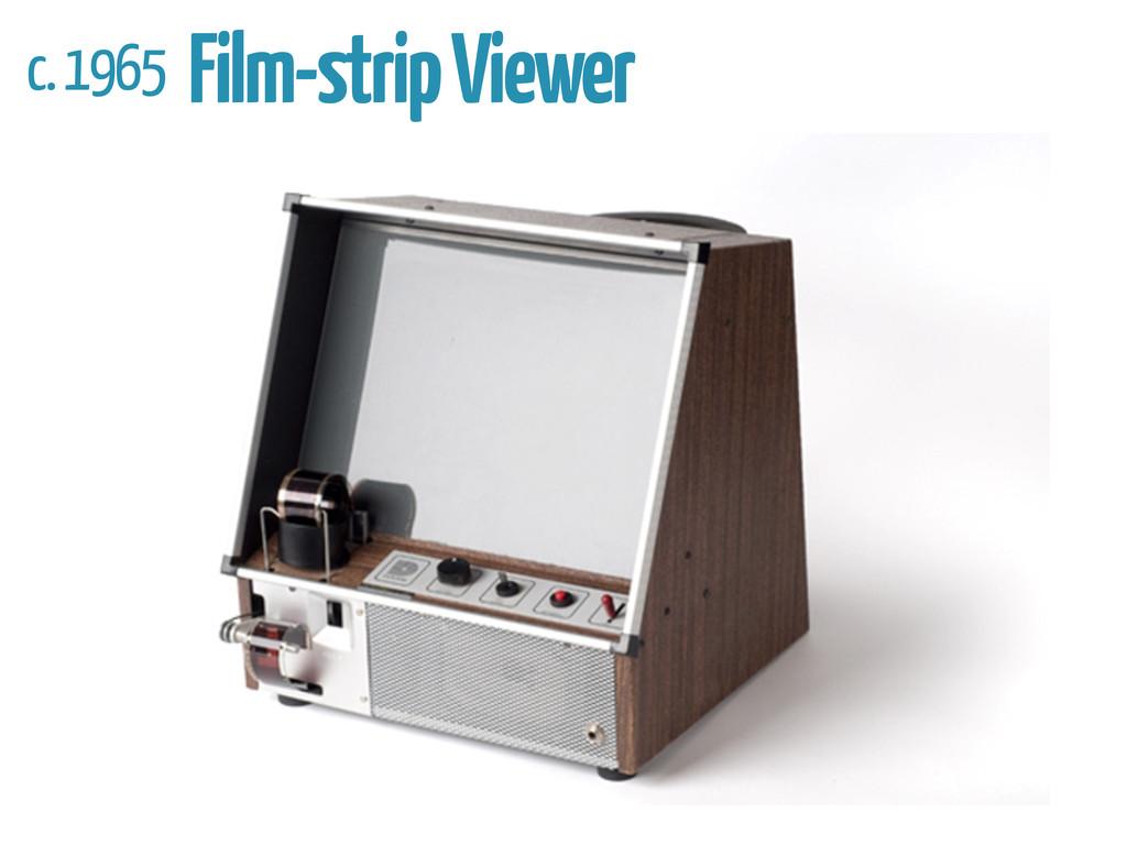 c. 1965 Film-strip Viewer