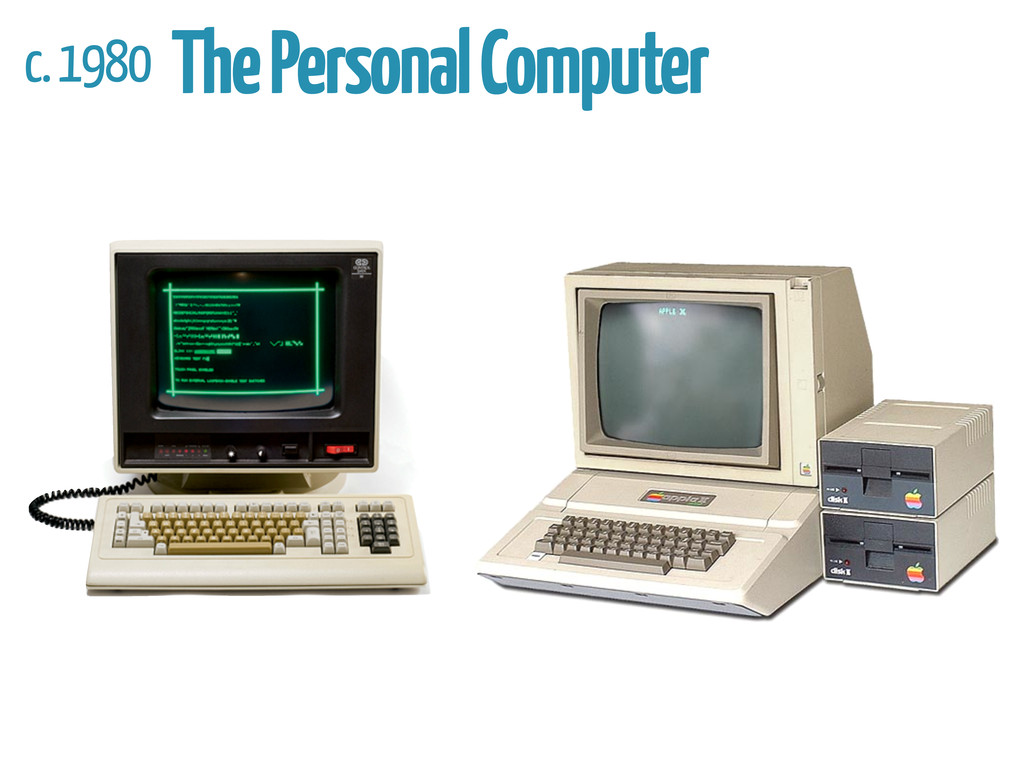 c. 1980 The Personal Computer