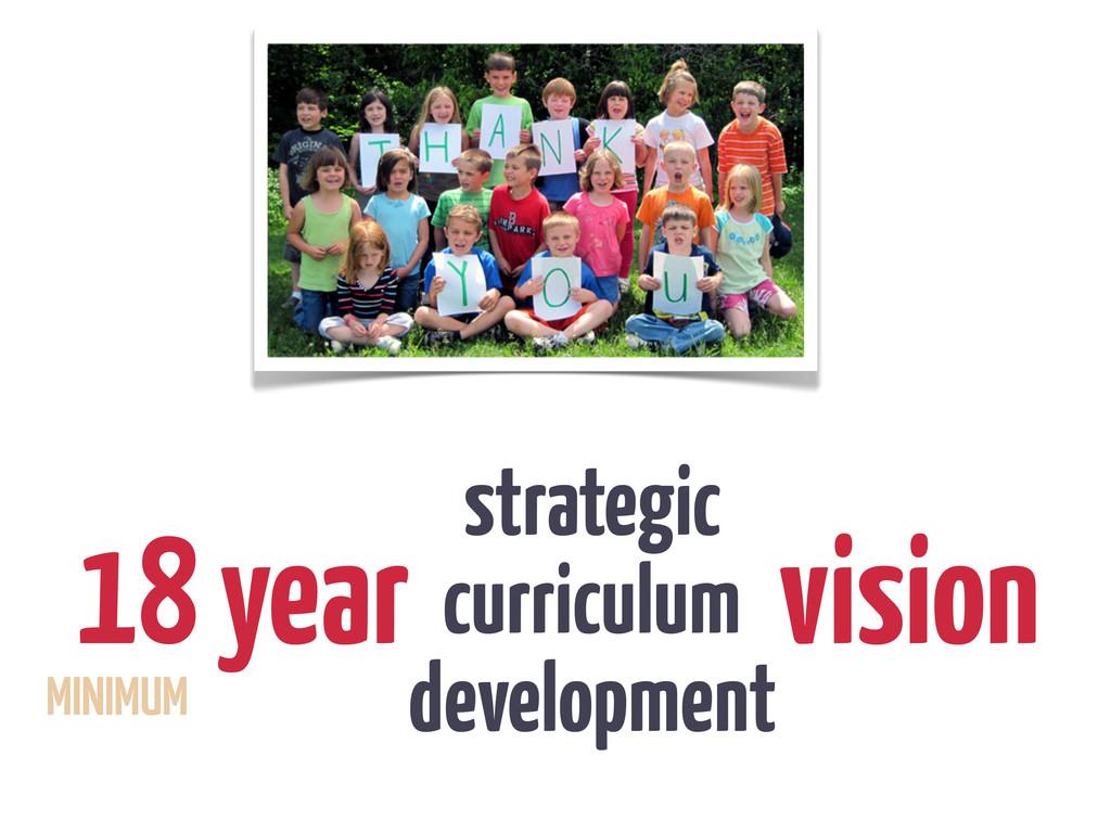 18 year vision strategic curriculum development...