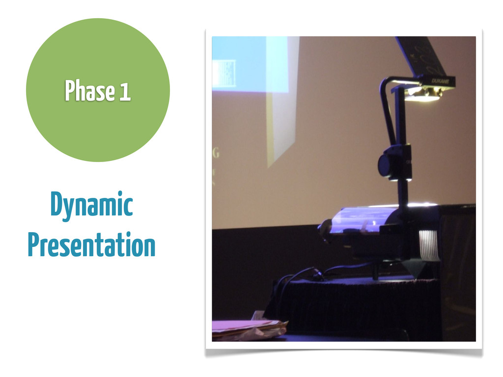 Dynamic Presentation Phase 1