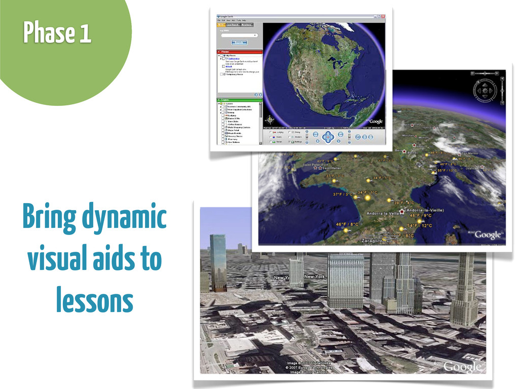 Bring dynamic visual aids to lessons Phase 1