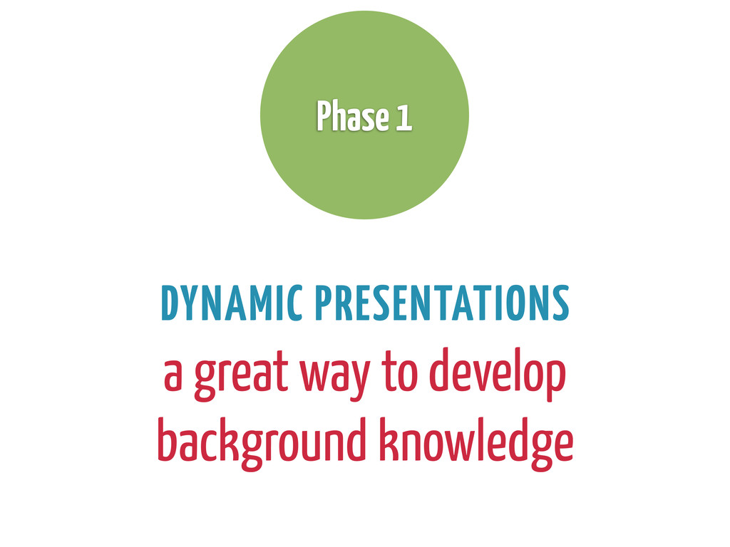 DYNAMIC PRESENTATIONS a great way to develop ba...