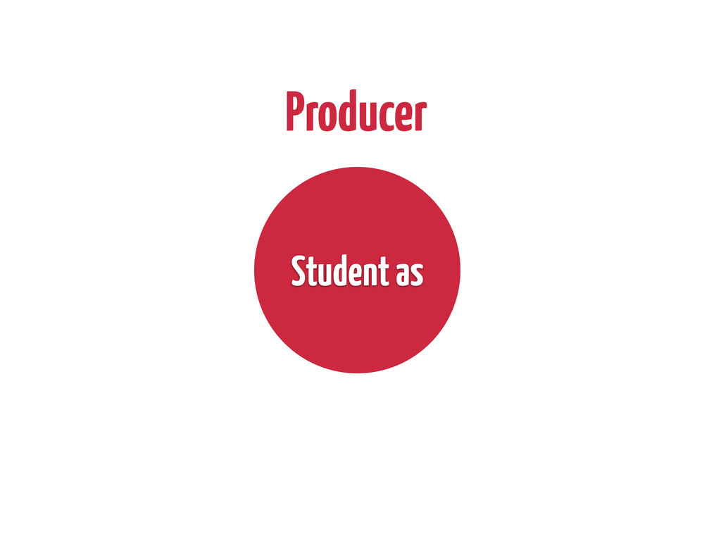 Producer Student as