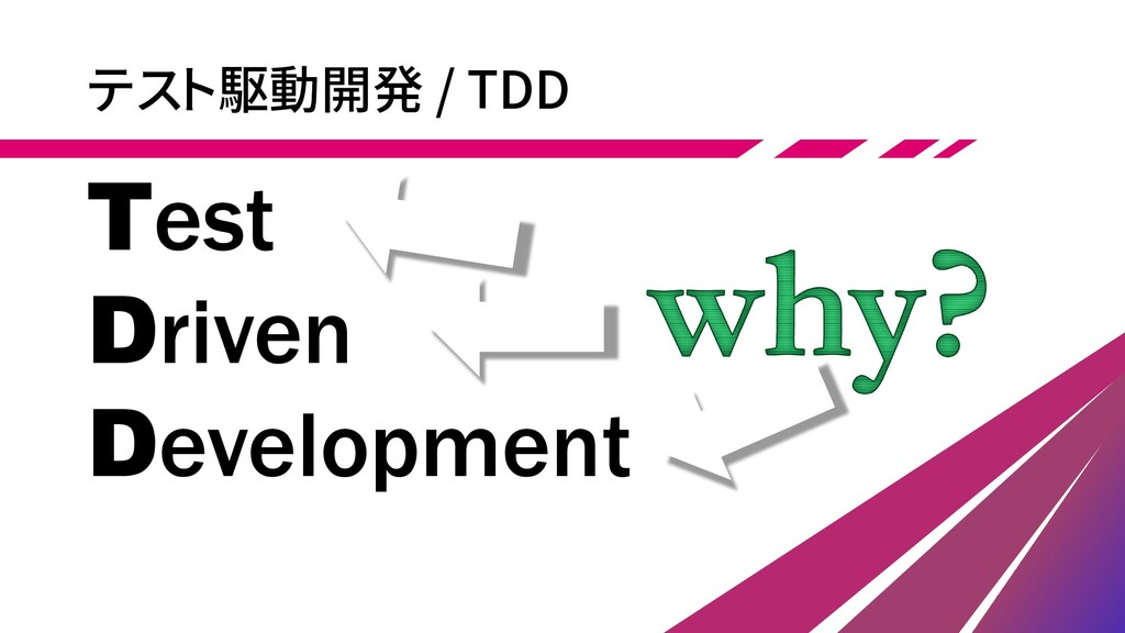 テスト駆動開発 / TDD Test Driven Development