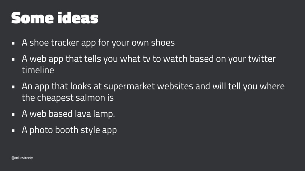 Some ideas • A shoe tracker app for your own sh...