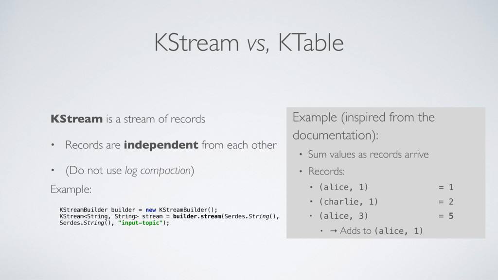KStream vs, KTable KStream is a stream of recor...