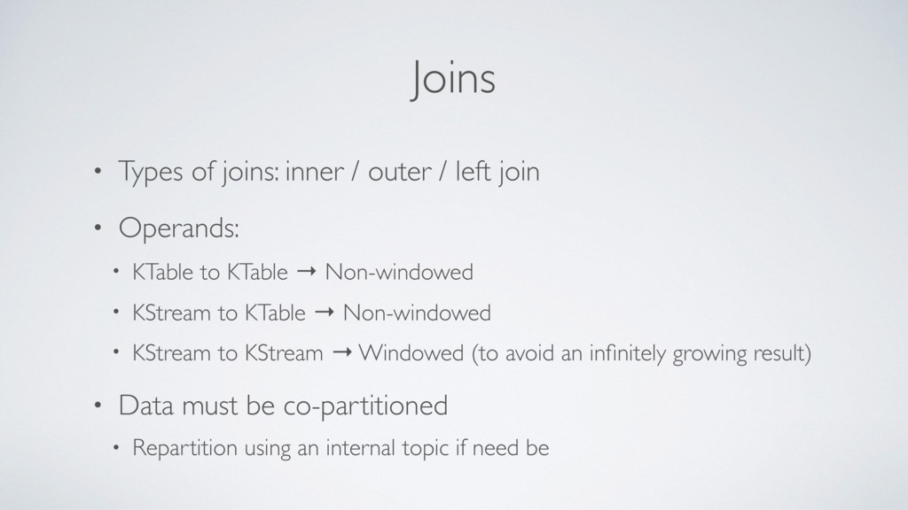 Joins • Types of joins: inner / outer / left jo...