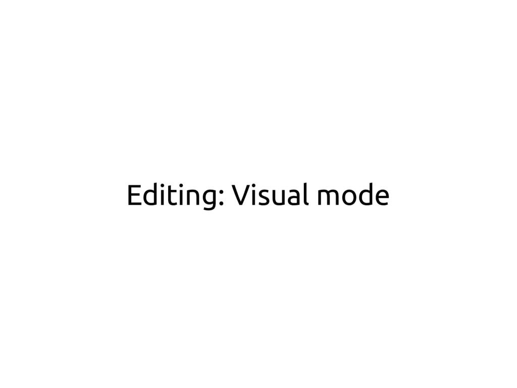Editing: Visual mode